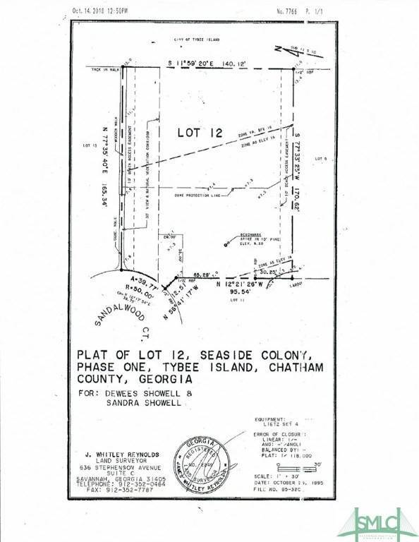Land for Sale at 7 Sandlewood Court 7 Sandlewood Court Tybee Island, Georgia 31328 United States