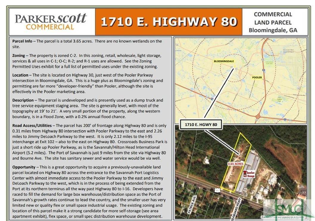 Commercial for Sale at 1710 US Highway 80 Highway 1710 US Highway 80 Highway Bloomingdale, Georgia 31302 United States