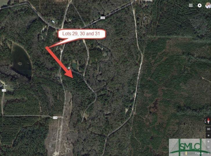 17. Land for Sale at Lot 29, 30, & 31 Lotts Creek Lane Claxton, Georgia 30417 United States