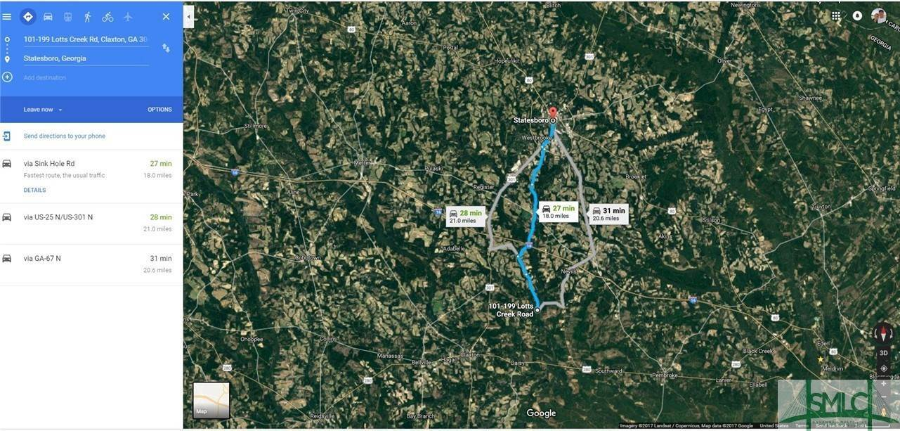18. Land for Sale at Lot 29, 30, & 31 Lotts Creek Lane Claxton, Georgia 30417 United States