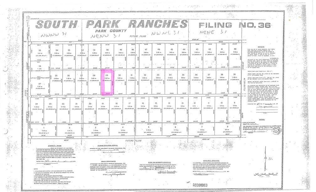 12. Land for Sale at 3375 Moffat Road Hartsel, Colorado 80449 United States