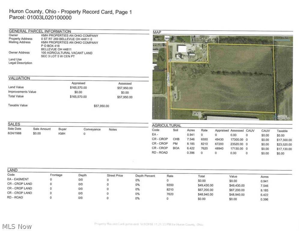 Land for Sale at 23.49 ac V/L State Route 269 Bellevue, Ohio 44811 United States