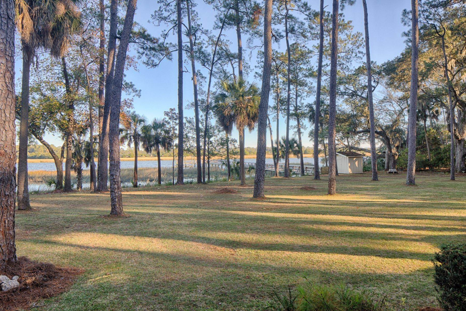 42. Single Family Homes for Sale at Exceptional Retreat on Sylvan Island located on the Herb River 6 Sylvan Island Road Savannah, Georgia 31404 United States