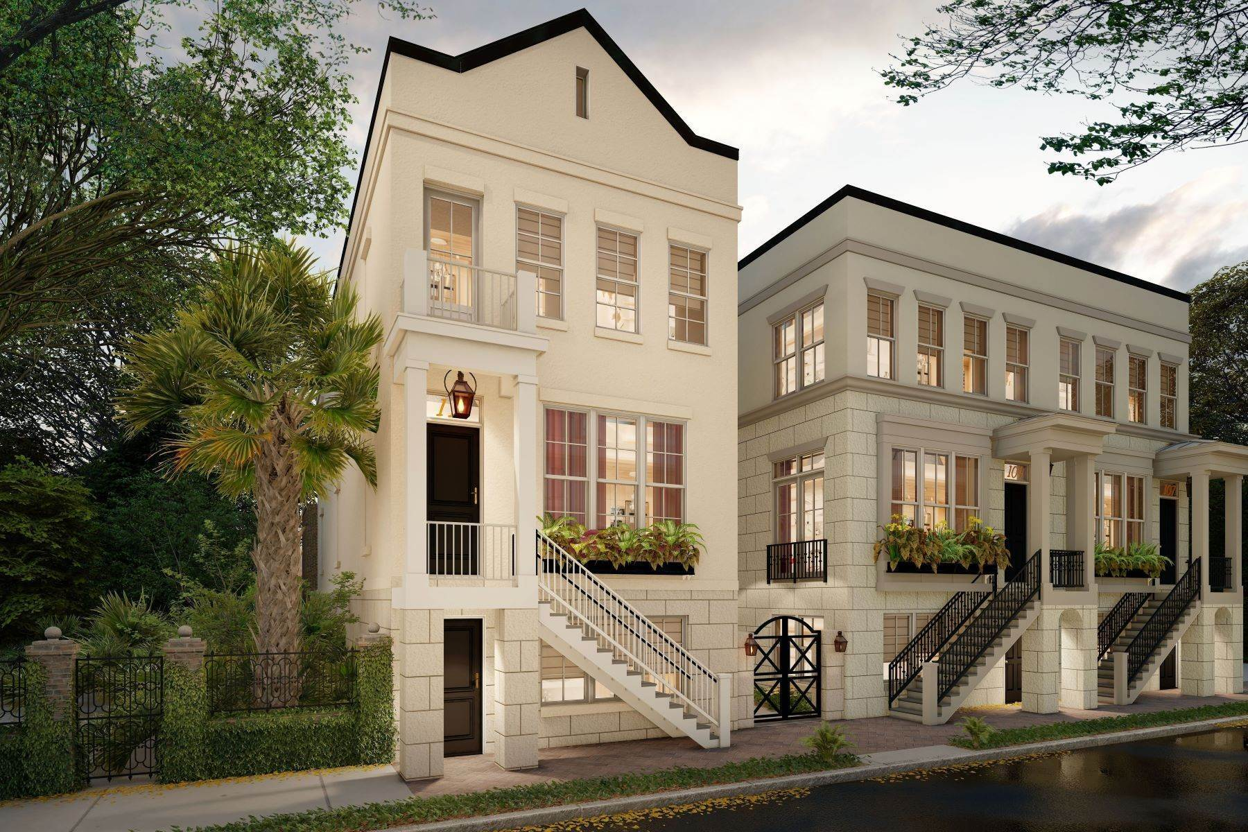 Single Family Homes for Sale at One Of Three Incredible New Construction Townhouses In The Historic District 111 E Gordon Street Savannah, Georgia 31401 United States
