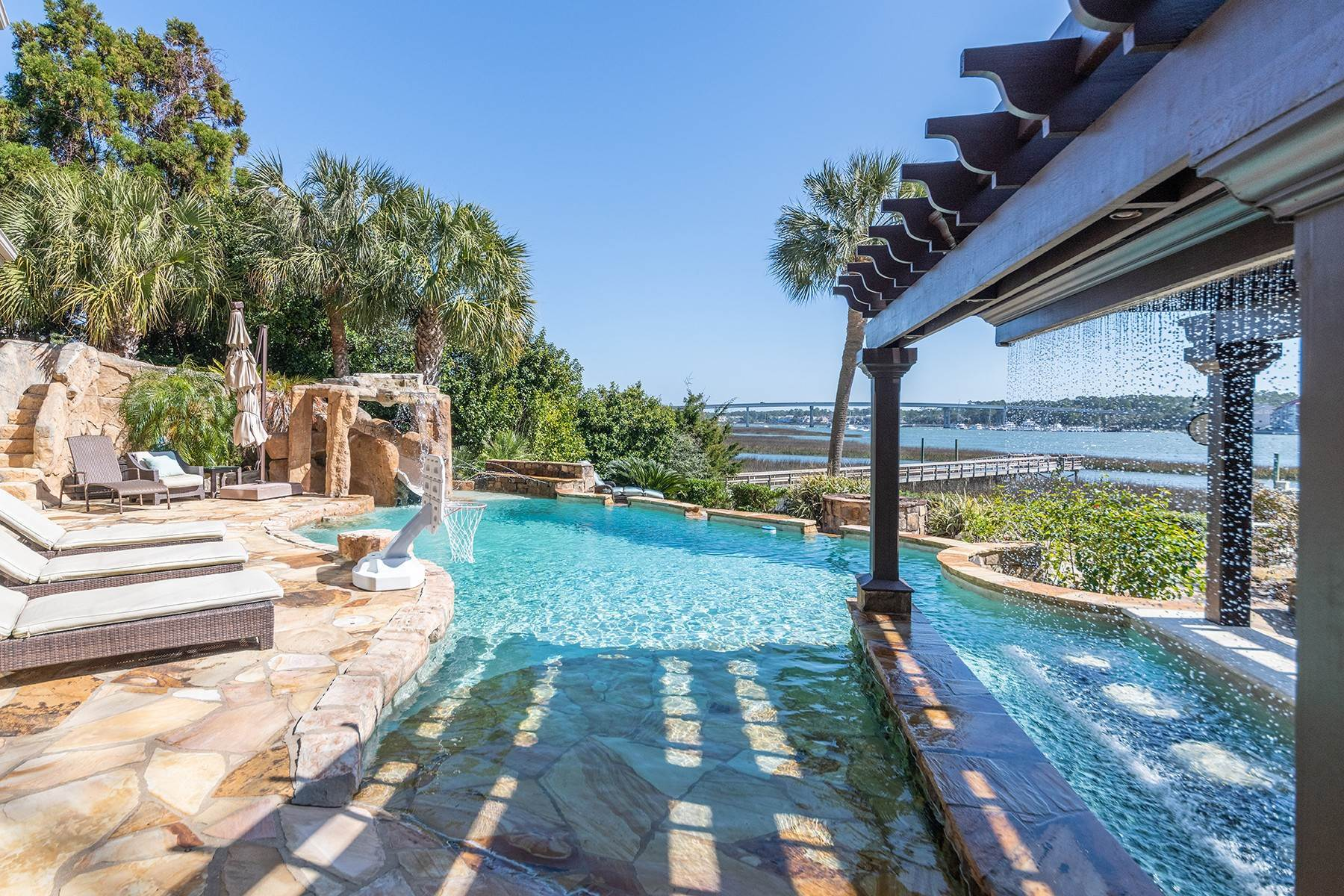 44. Single Family Homes for Sale at Widewater Waterfront Luxury 30 Widewater Road Hilton Head Island, South Carolina 29926 United States
