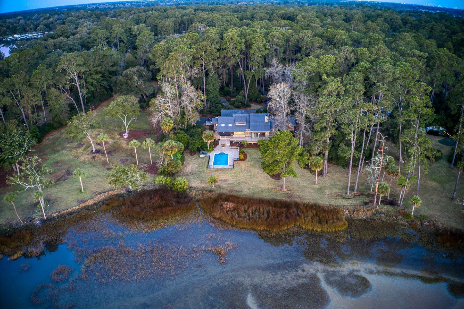 Single Family Homes for Sale at Live On Over 2.5 Acres That Overlook The Skidaway River And Beyond 41 Island Drive Savannah, Georgia 31406 United States