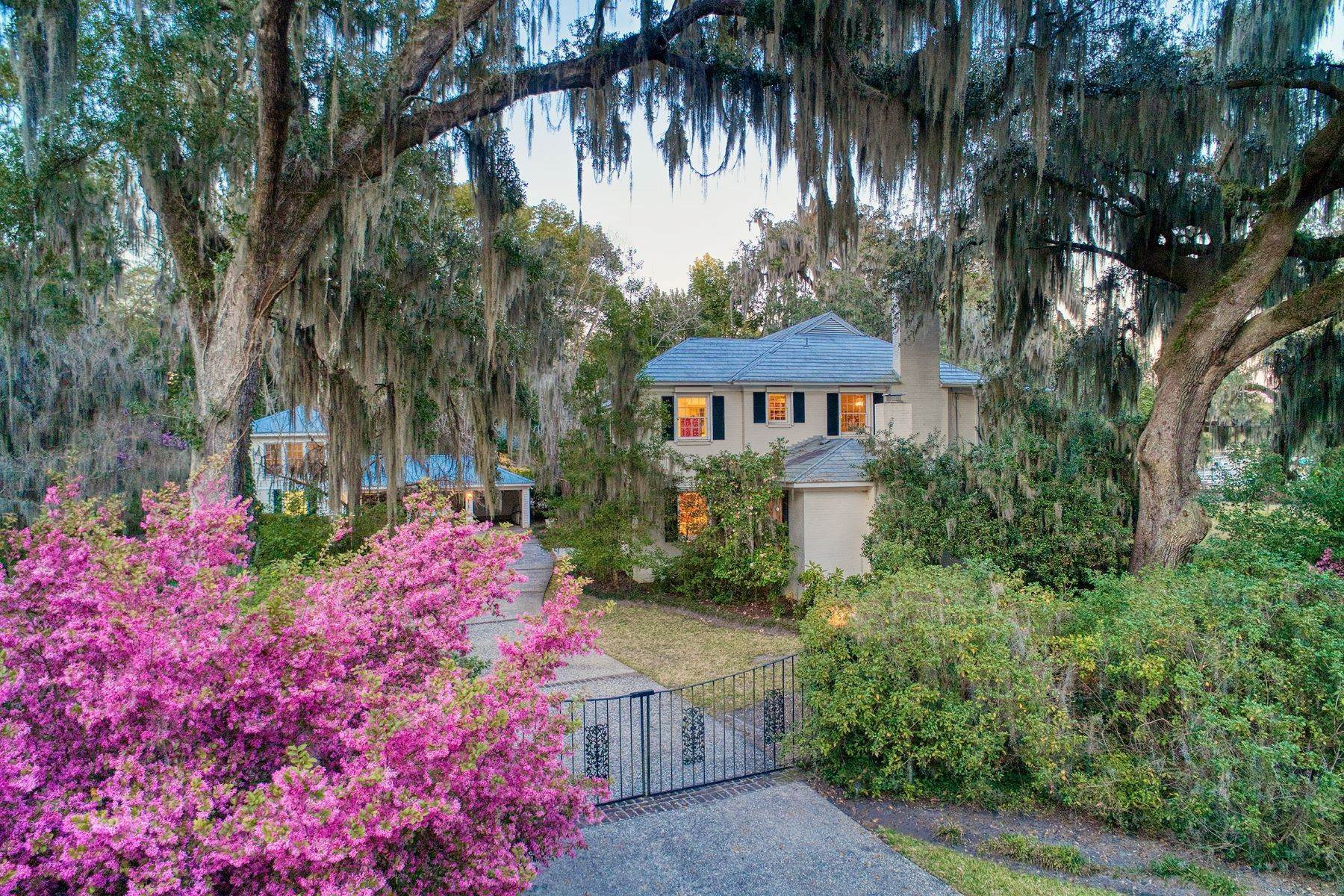 Single Family Homes for Sale at Waterfront Home on Historic Bluff Drive in Isle of Hope 23 W Bluff Drive Savannah, Georgia GA United States