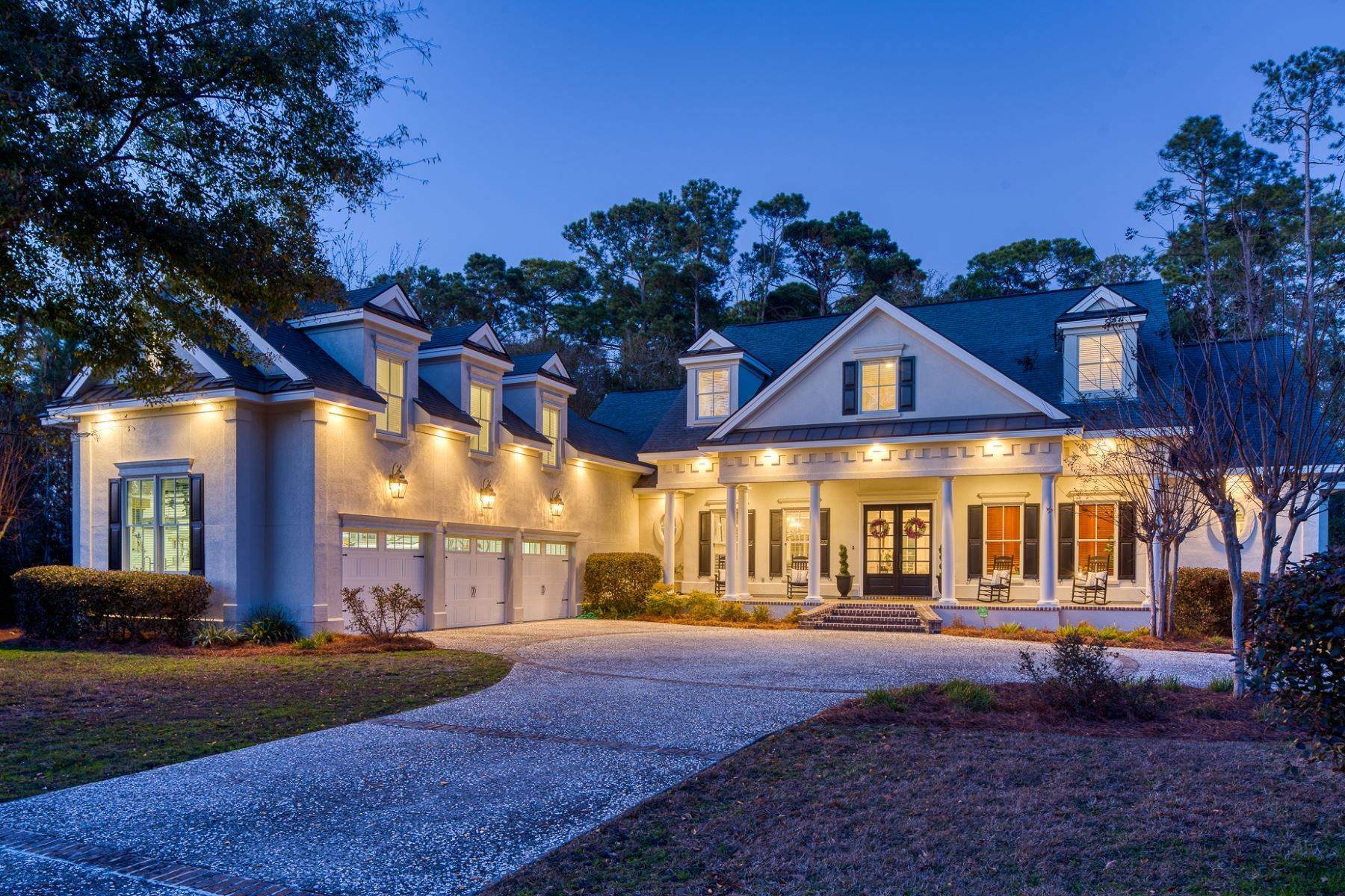 Single Family Homes for Sale at Custom Home In Prestigious Moon River Community 108 Waterway Drive Skidaway Island, Georgia 31411 United States